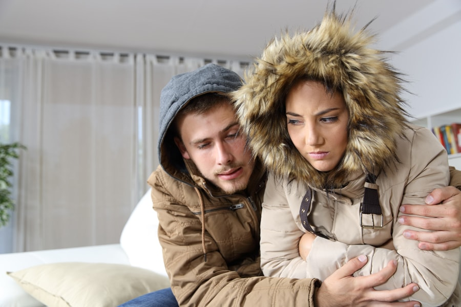 Cold Couple in Home