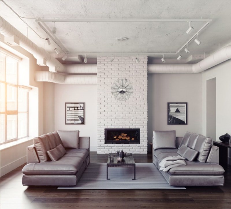 clean living room showing homeowner why indoor air quality is important .