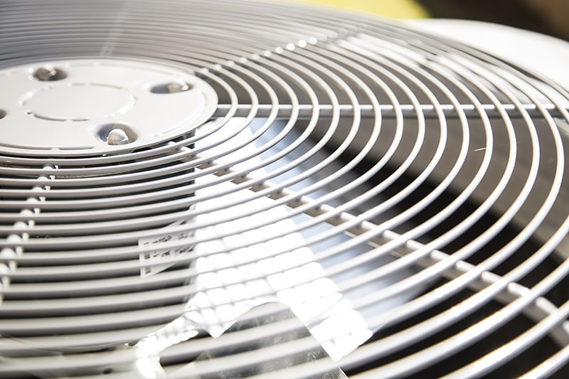 AC fan showing how one of the many components of an air conditioner can work.